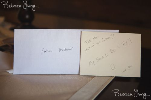 We Wrote Letters To Each Other For The Day Of The Wedding  Our