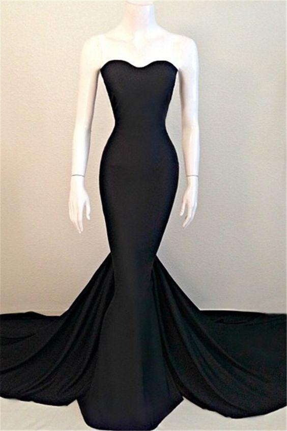 Black Prom Dressesmermaid Prom Dressprom Dressformal Gownevening