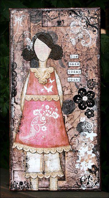 She Art Girl Number 3 by Sarah Schwerin, via Flickr