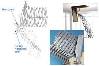 deluxe aluminium alloy concertina loft ladder cpwr. Black Bedroom Furniture Sets. Home Design Ideas