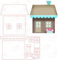 House - Digital Cutting File download for Silhouette Cameo, Scan n Cut etc