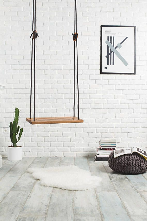 tree swing for indoor or outdoor use nautic wood swing made of walnut wooden indoor swing for. Black Bedroom Furniture Sets. Home Design Ideas