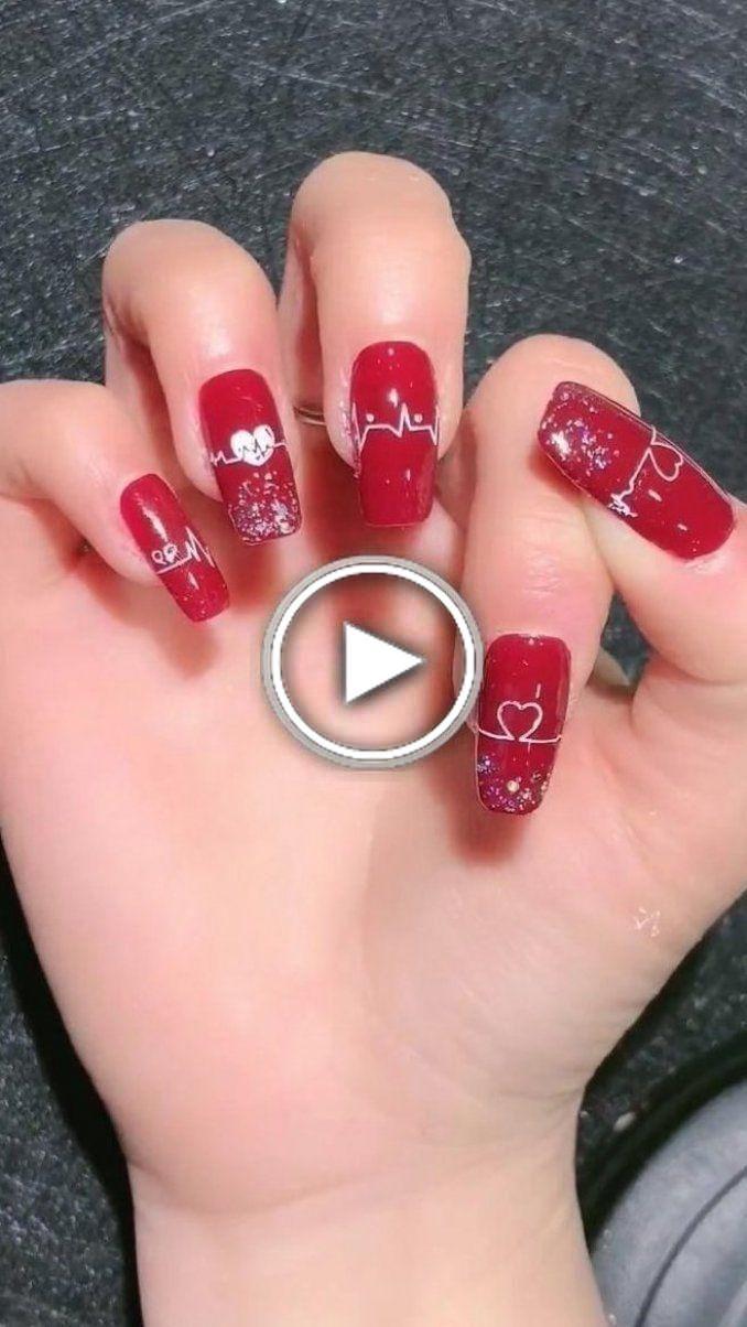 valentines clou de gel à ongles vernis à ongles Valentine jour Valentine Polonais