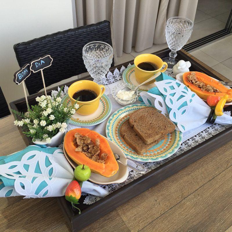 Bandeja de caf da manh para o marido home pinterest desayuno caf and bandeja de caf - Bandeja desayuno cama ...