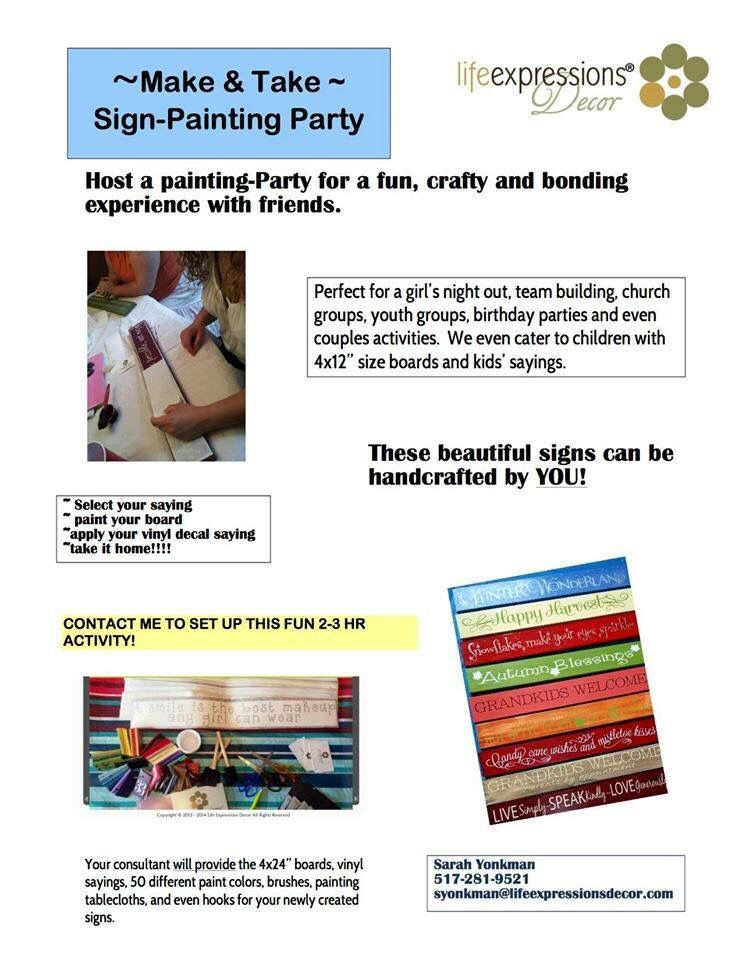 Life Expressions Sign Making Parties