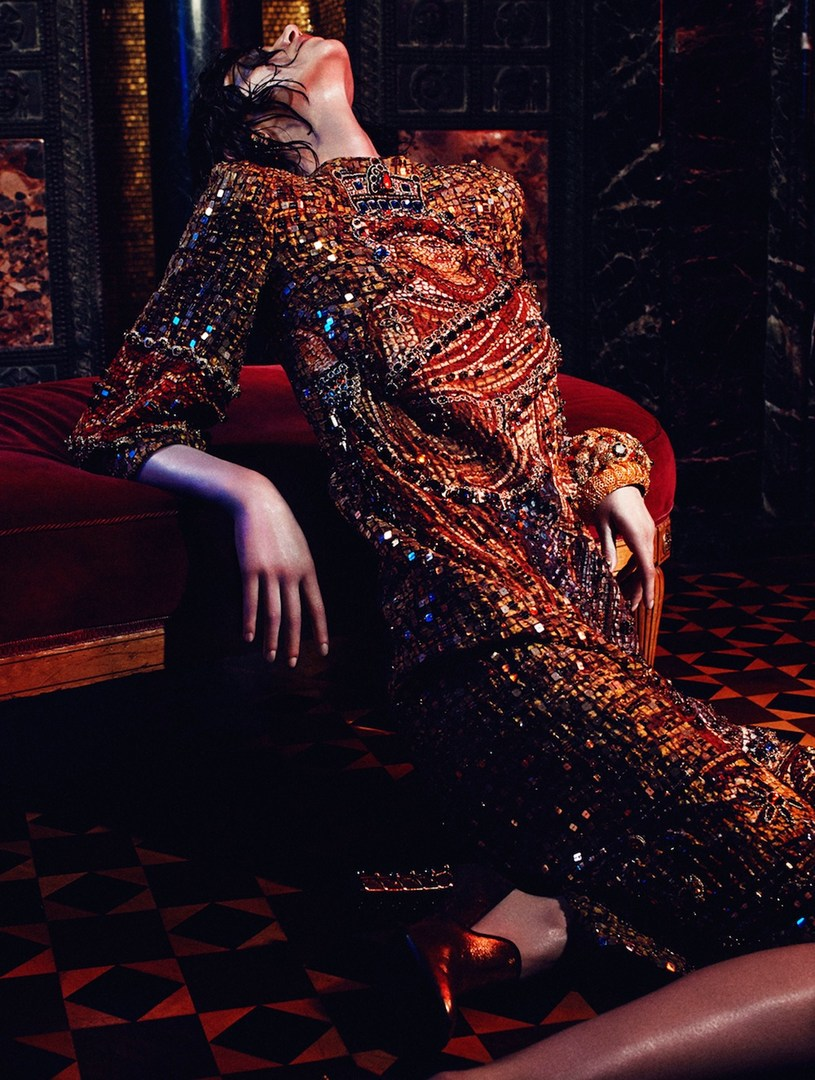 Jessica Pitti by Van Mossevelde + N for Glamour Germany December 2013
