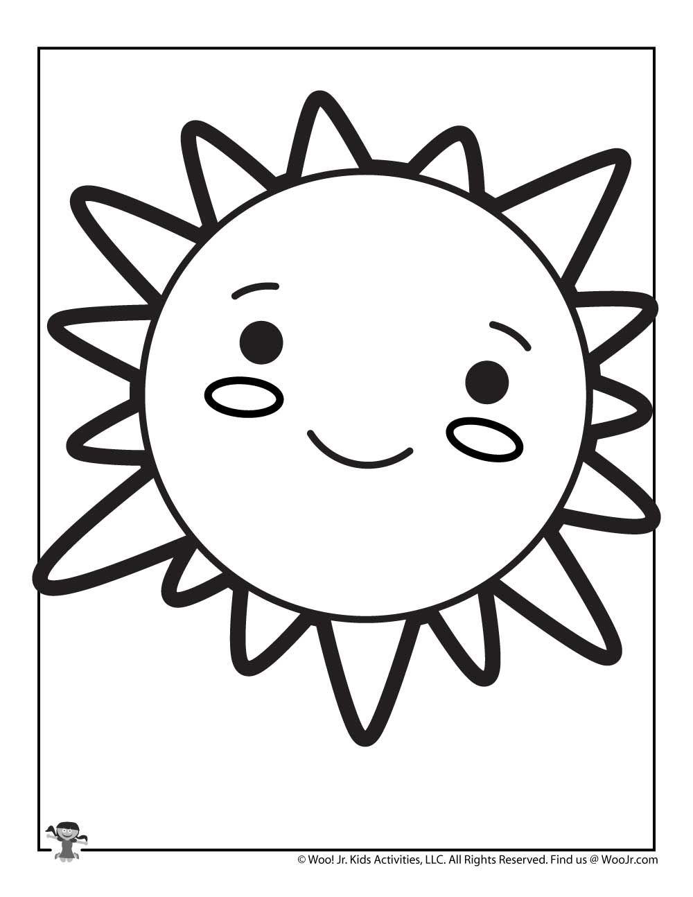 Cute Sun Coloring Page For Kids Woo Jr Kids Activities In 2020 Sun Coloring Pages Coloring Pages Cute Sun