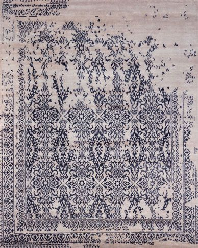 Hali Rug Everest Collection Mm 06 Dark Blue Hand Knotted In India