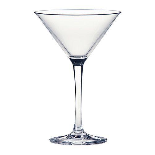 IKEA - FYRFALDIG, Martinilasi, Matalan, laakean ja suuren maljan ansiosta lasissa on hyvin tilaa hedelmillä, marjoilla ja jäillä koristeluun.