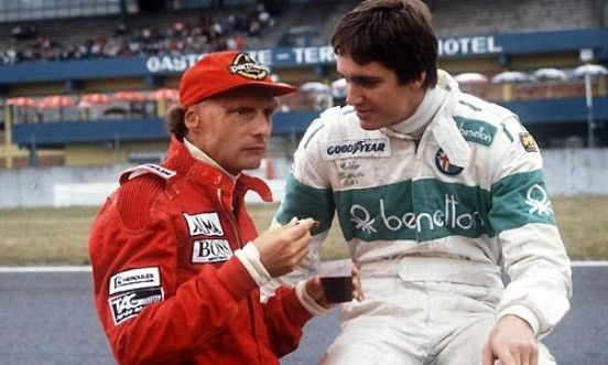 American Eddie Cheever with Niki Lauda 1984