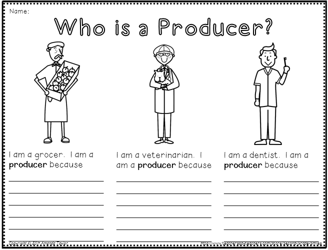 What is a Community pack created to help primary students – Producers and Consumers Worksheets