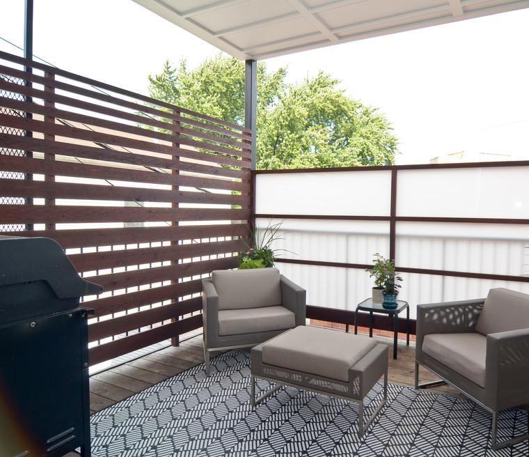 Terrazas cubiertas decoracion y dise o 48 ideas - Muebles para terraza pequena ...
