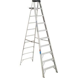 310 10 Ft Type Ia Aluminum Step Ladder Step Ladders Ladder Loft Decor Industrial