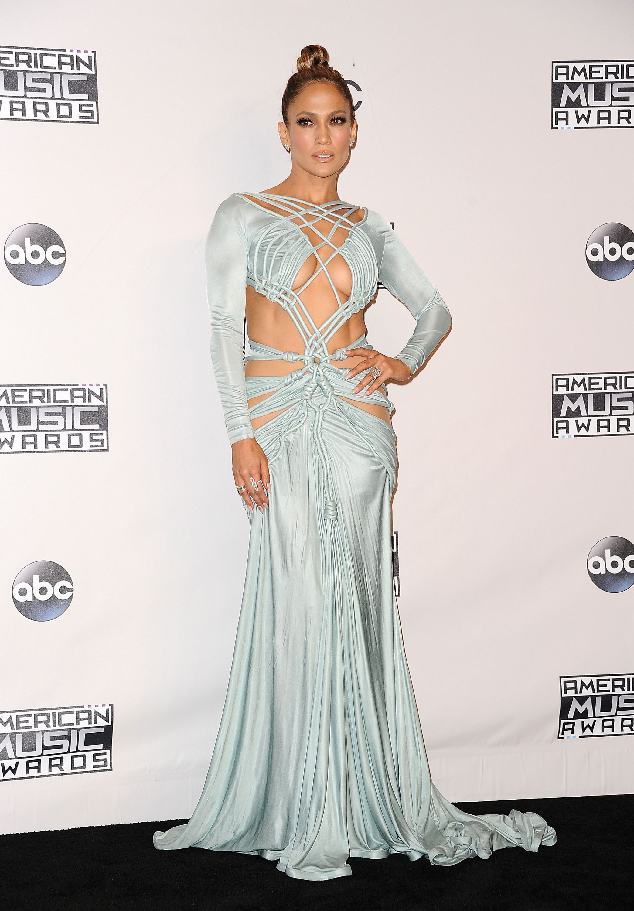 Jennifer Lopez in Multiple Naked Outfits as She Hosts