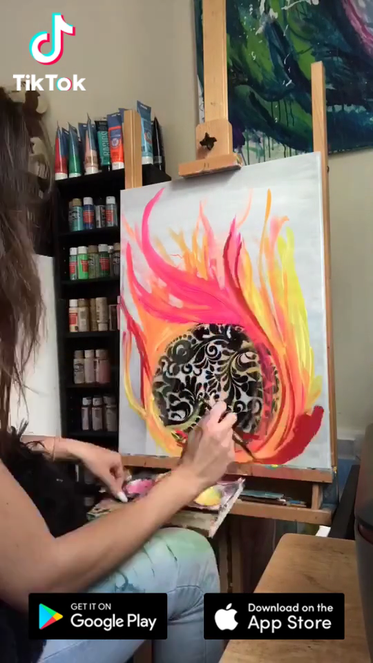 Easy & quick #painting ! Get inspired by the world on #TikTok today