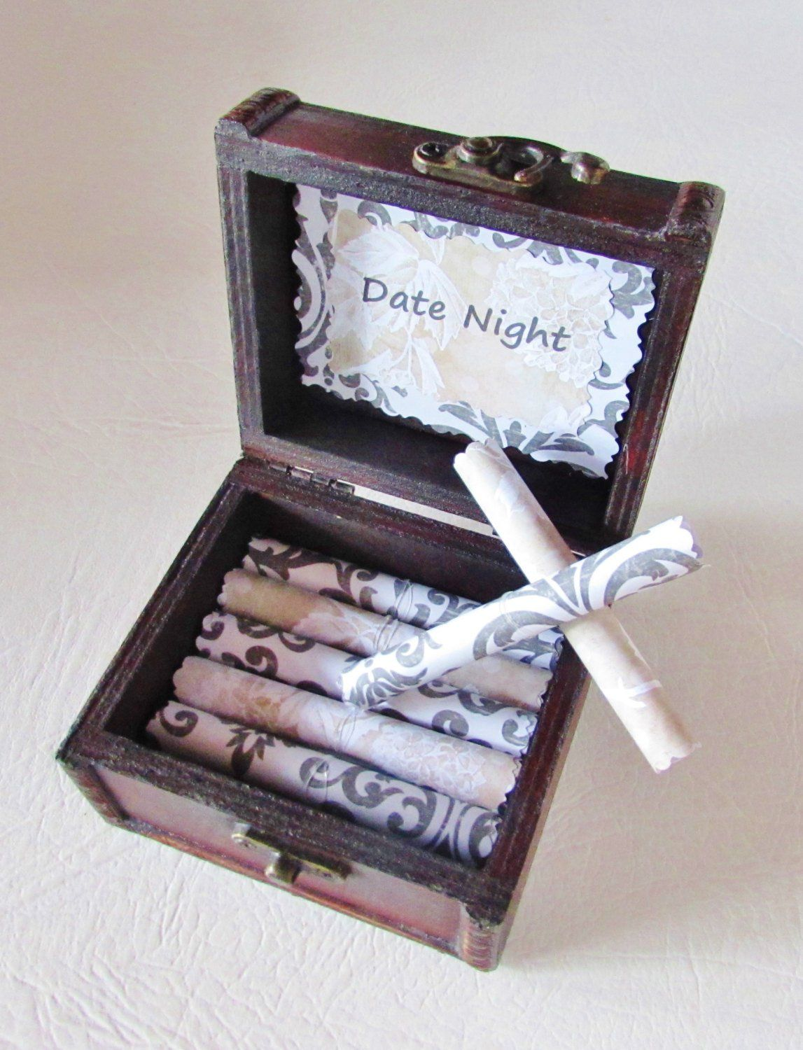 Girlfriend Birthday Gift Wife Date Night Scroll Box Valentine Idea Anniversary