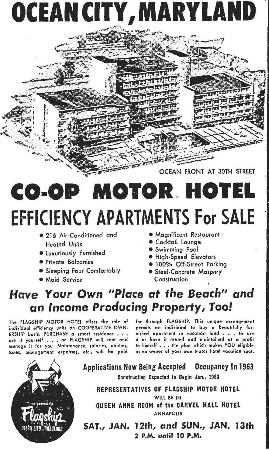 Interesting Article From The Spring 2013 Newsletter Of The Oc Lifesaving Museum About The First Condo Proposed In Ocean City Maryland Ocean City Ocean City Md