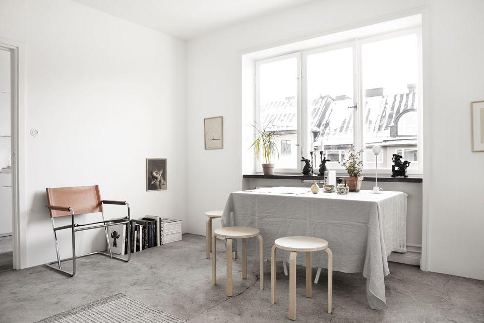 Simplicity And Raw Concrete Floor BLOG Pinterest Concrete - Apartment soft minimalist decor