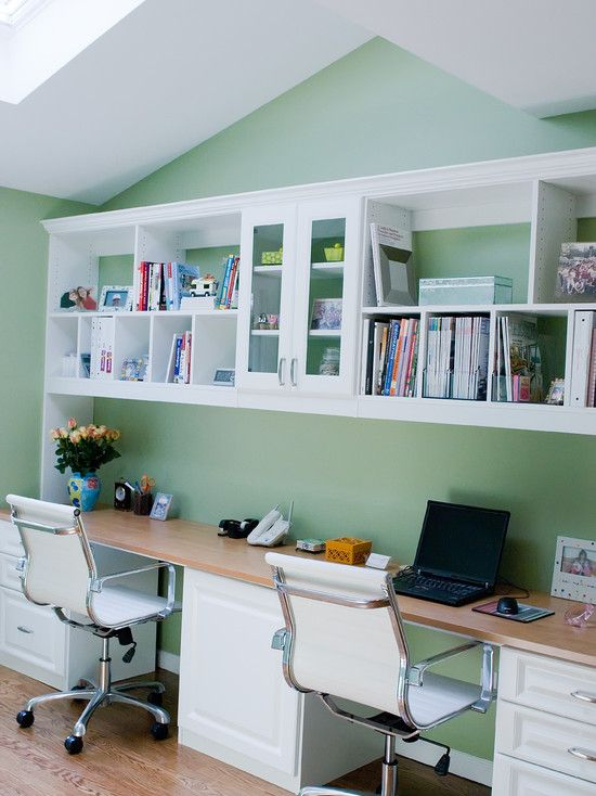 Marvellous Home Office Design For Two People Magnificent