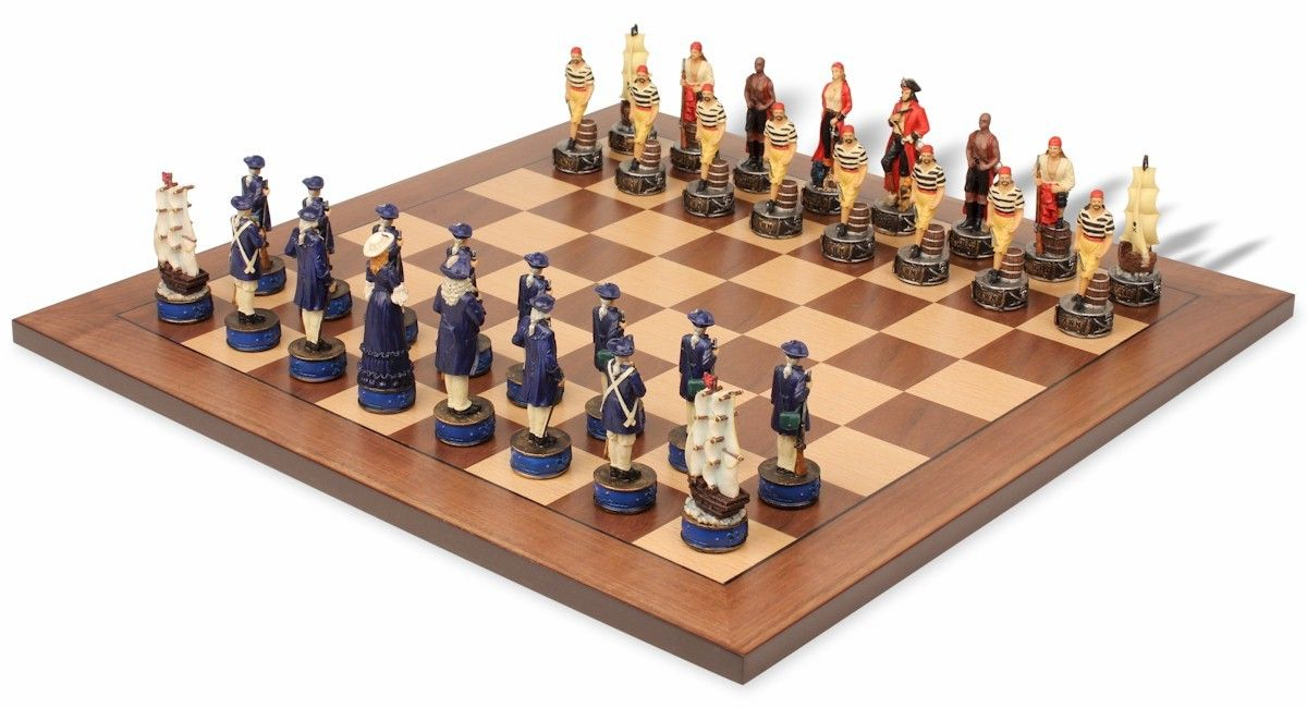Pirates U0026 Royal Navy Theme Chess Set