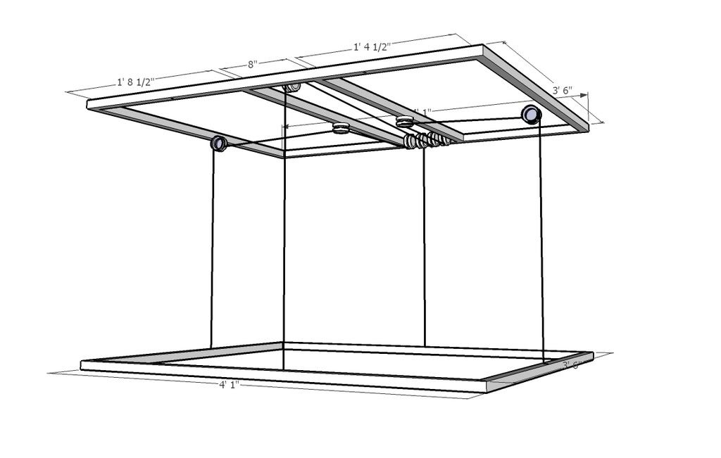 400 Gallon Project Page 10 Hanging Bed Ceiling Storage