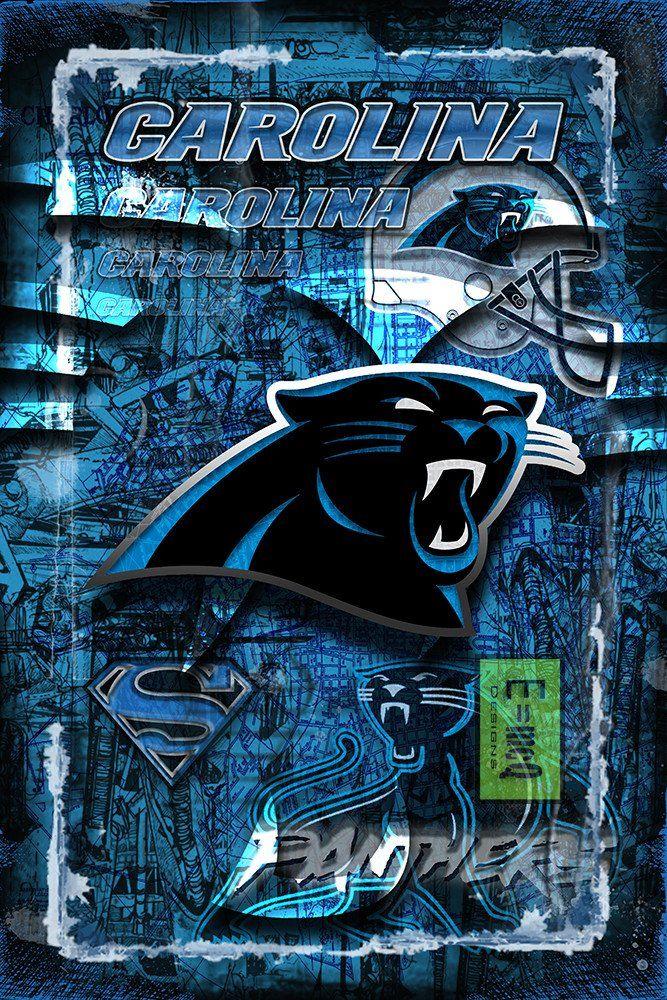 Carolina Panthers Football Poster, Carolina Panthers Gift ...