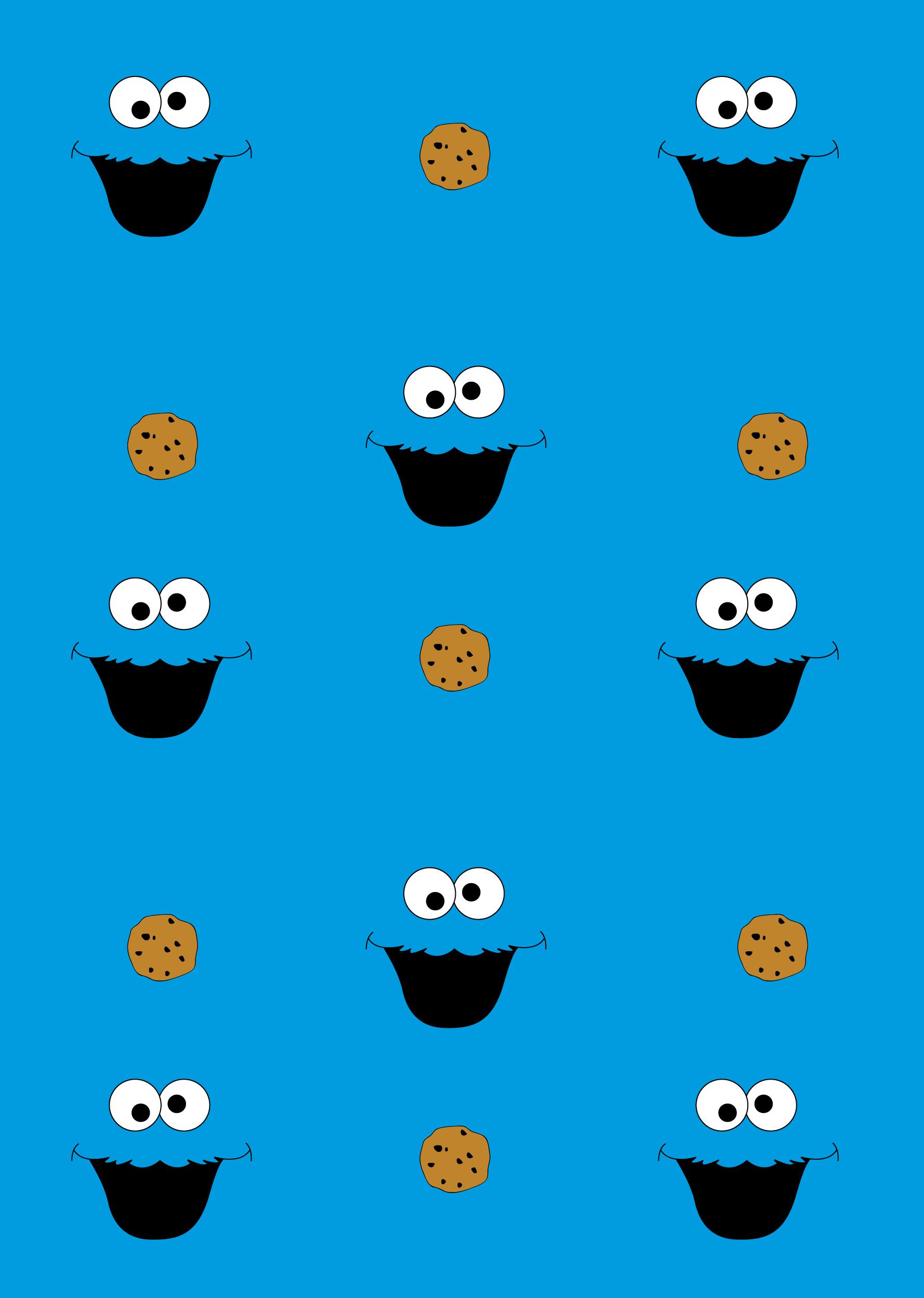 쿠키몬스터 Pattern Cookie Monster Wallpaper Cute Cartoon Wallpapers Elmo And Cookie Monster