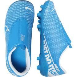 Nike Kinder Fußballschuhe Rasen und Kunstrasen Mercurial Vapor 13 Club Mg, Größe 31 ½ in Blau NikeNi