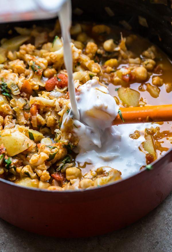Vegan Cauliflower Potato And Chickpea Curry