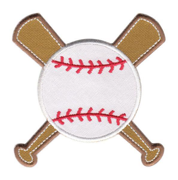 "Baseball & Bats Iron-Iron-On Applique Patch - Size: 4"" x 4"" (10 x 10 cm) - $5.49"