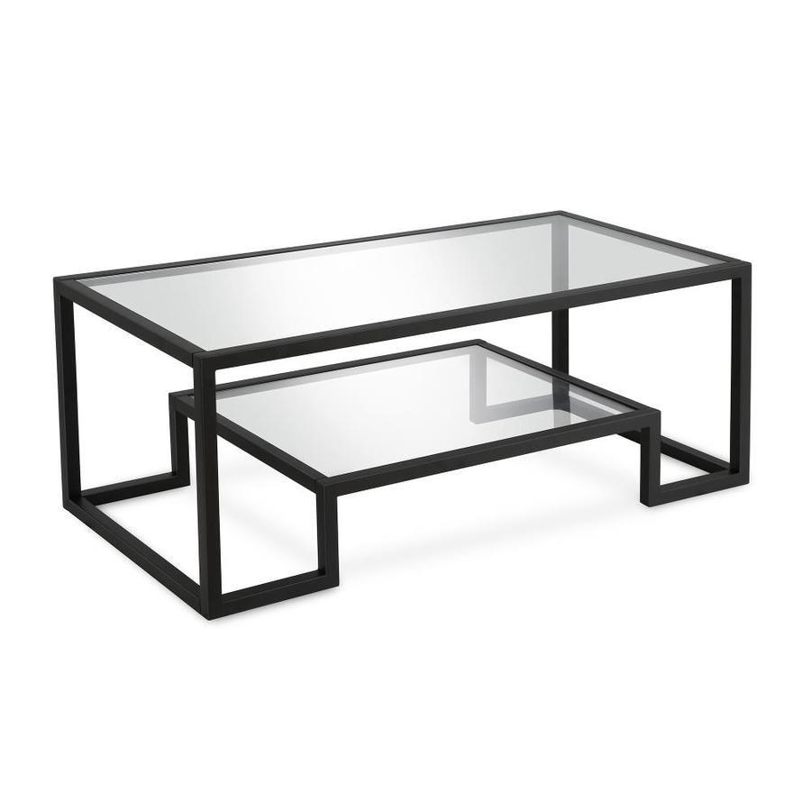 Hailey Home Athena Blackened Bronze Glass Coffee Table Lowes Com Bronze Coffee Table Coffee Table With Shelf Metal Coffee Table [ 900 x 900 Pixel ]
