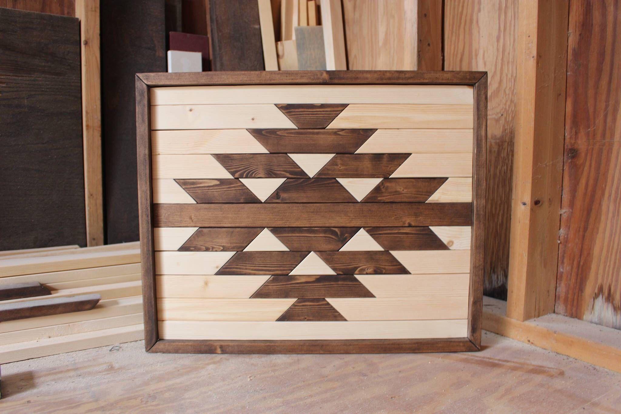 Modern wood artwood wall artgeometric wood artreclaimed wood wall