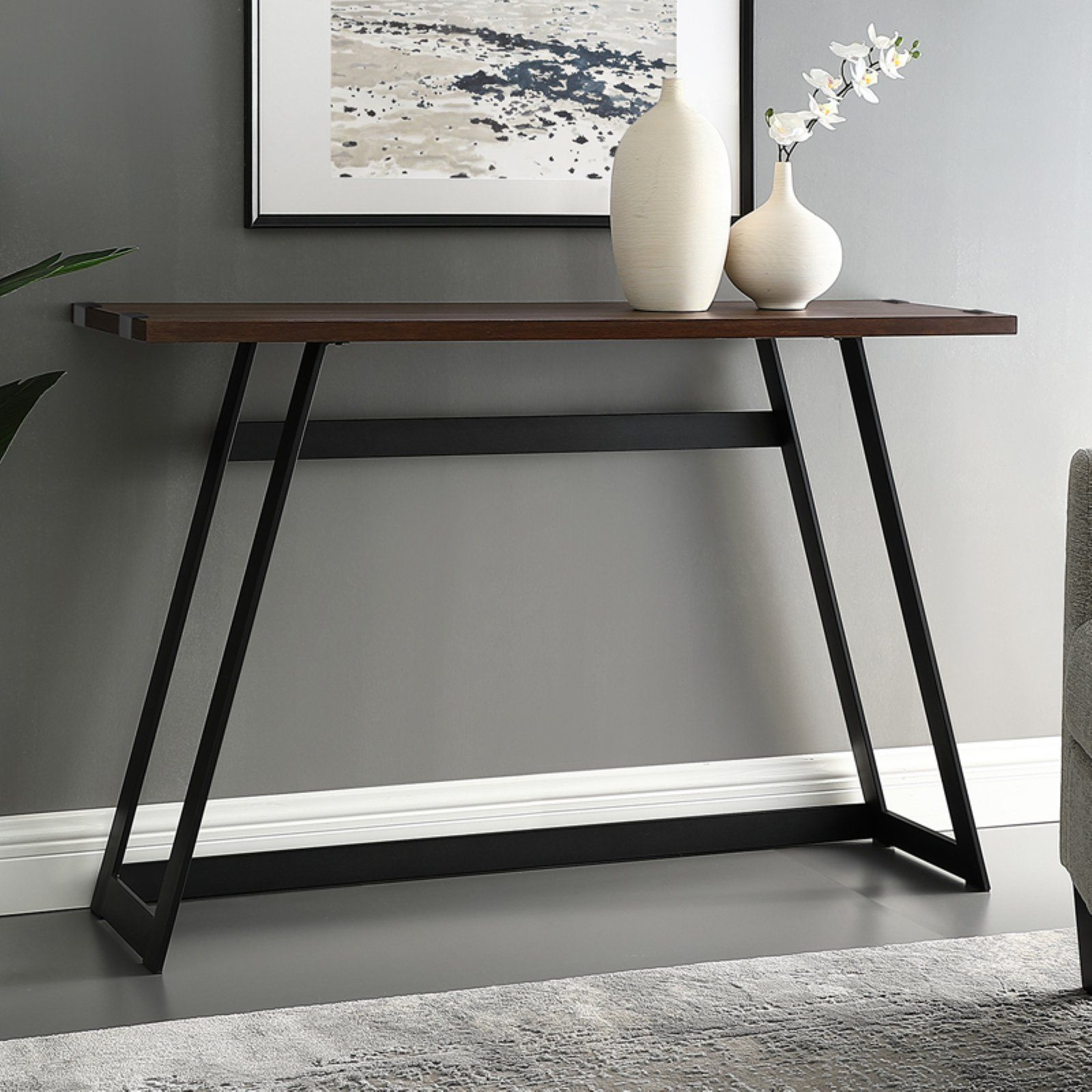 Manor Park Urban Industrial Console Table In 2020 Industrial Console Tables Console Table Table