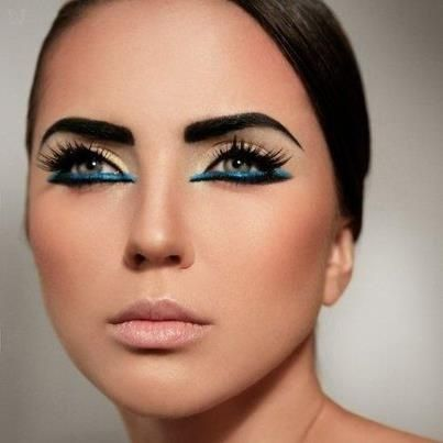 egyptian inspired makeup | blue under eyeliner egyptian inspired ...