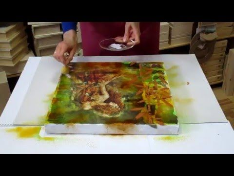 Decoupage su tela con carta di riso e mixed media art youtube
