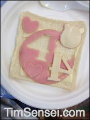 Food Craft for Kids with ham, cheese and cake cutters. Why not make lunch time part of the ESL lesson! Click image for more photos on the Tim Sensei blog.