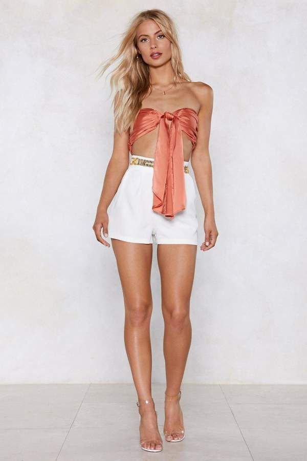 af2c70c34d Satin the Drivers Seat Bandeau Top | Shop Clothes at Nasty Gal in ...