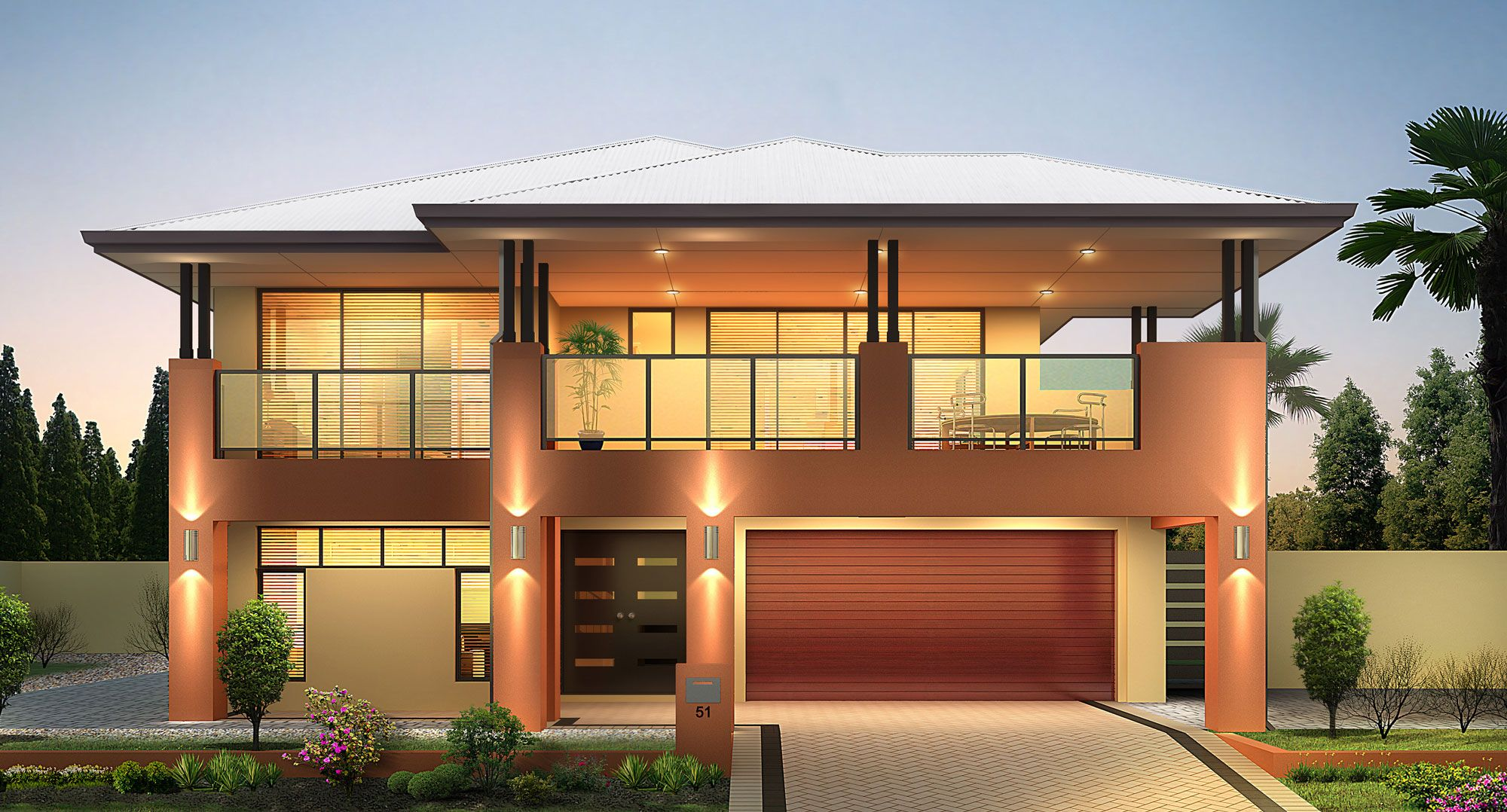 Reverse living house plans australia house plans for Reverse living house plans