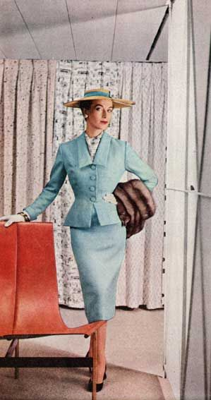 Blue Suit, 1950s, imagine this one made from soft leather...