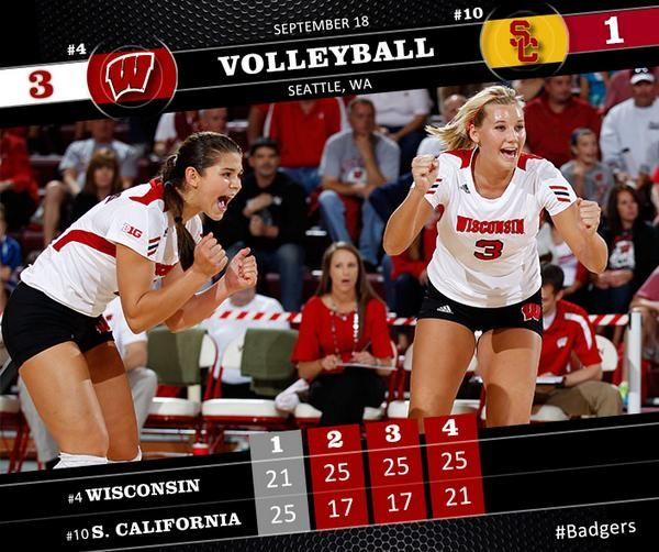 Wisconsin Badgers On Twitter Badger Volleyball Sports Graphics Wisconsin