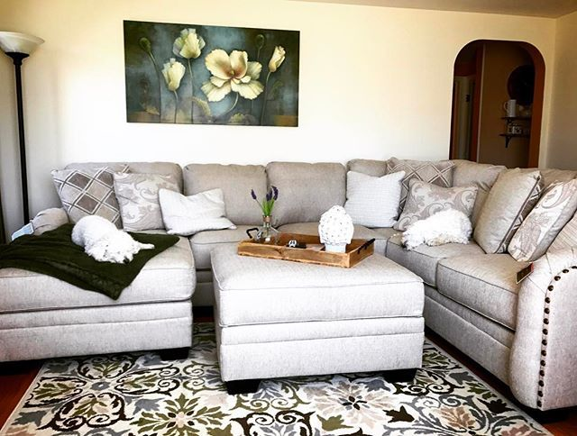 Luxora 4 Piece Sectional With Chaise Bisque Modern Farmhouse