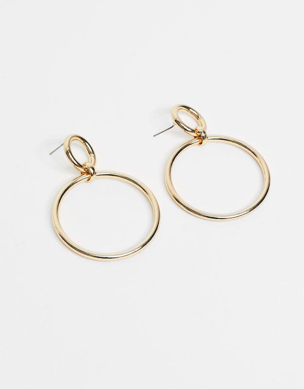 6e5482d77014 Pendientes aros dorados - Bisutería - Accesorios - Accesorios - Mujer -  PULL BEAR España