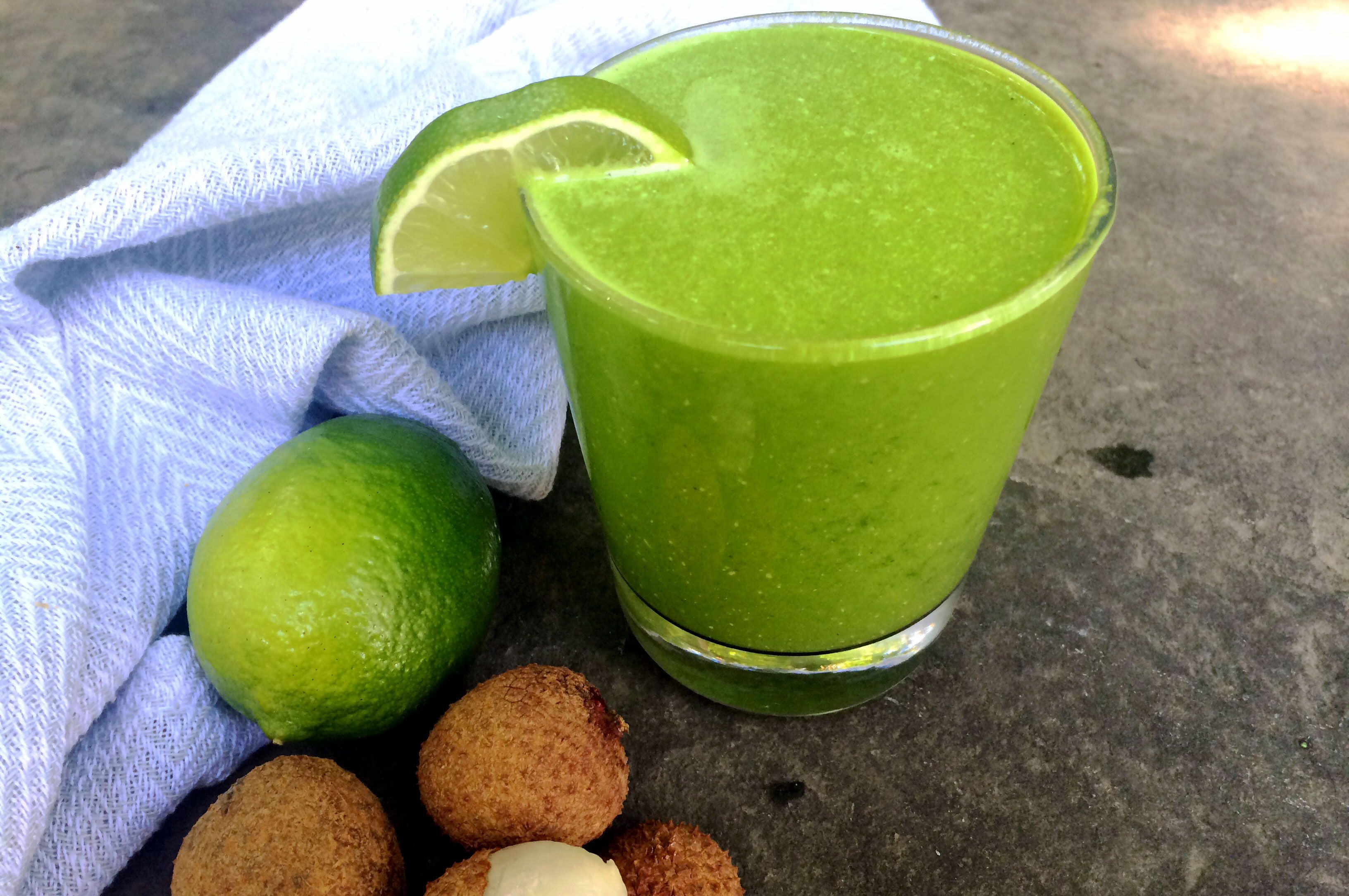 Lychee ginger ginger smoothie smoothie without banana