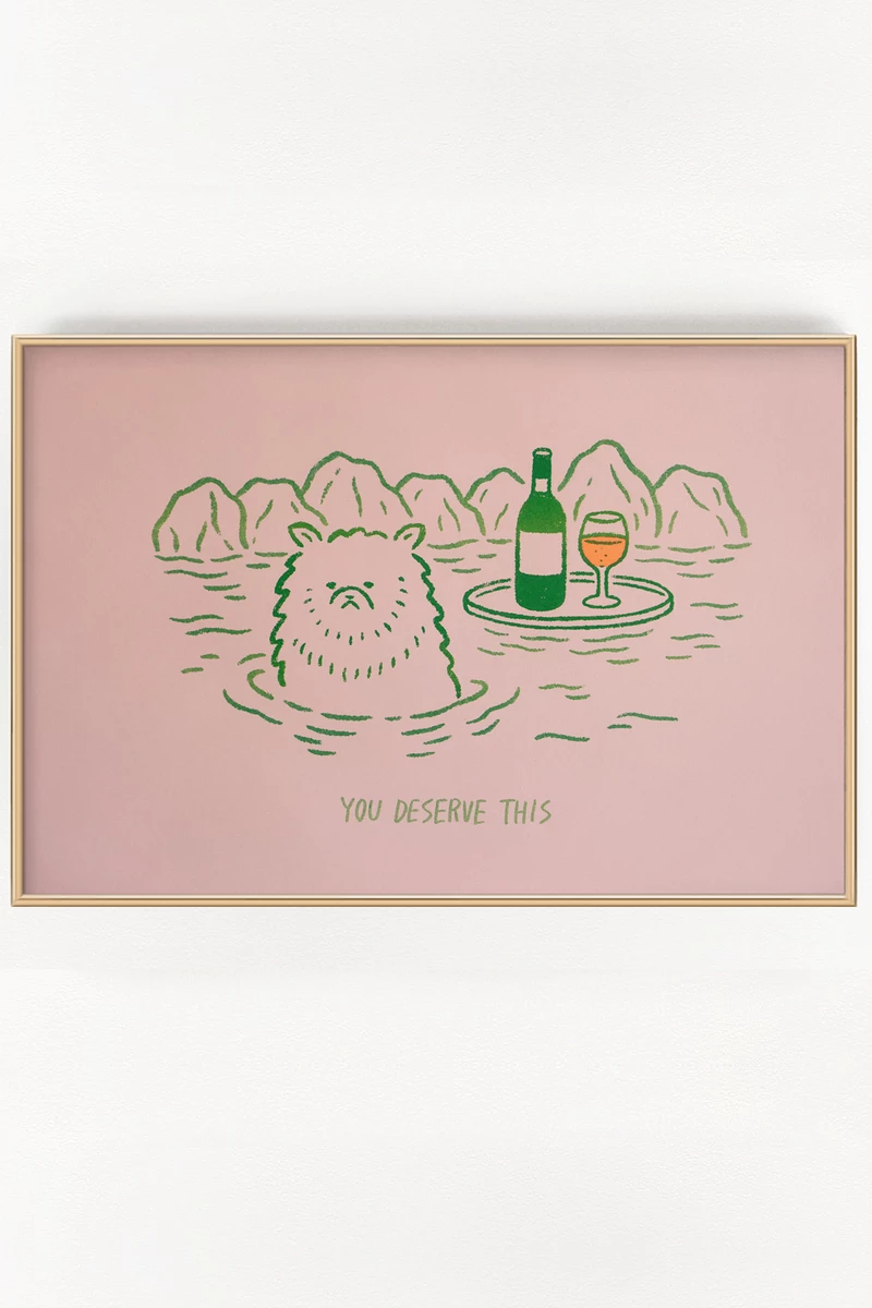 Artwork By Satoshi Kurosaki 11 X 17 Risograph Print Printed On Pink 67lb Cover Weight Paper Ships Flat In A Rigid Cardbo Risograph Print Riso Print Risograph