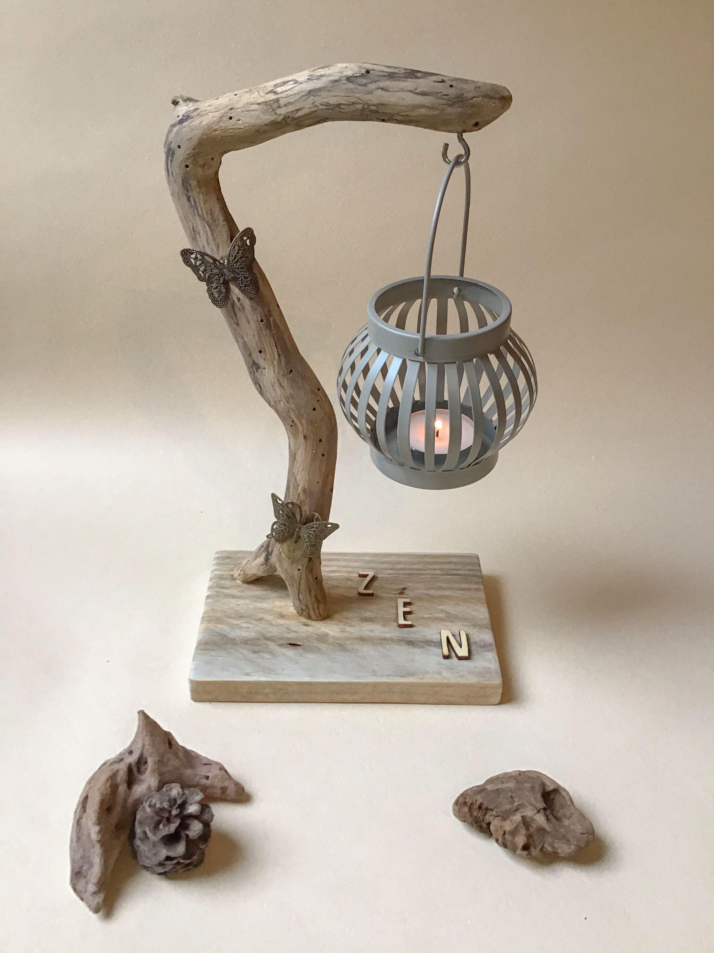Objets déco en bois flotté et peintures abstraites | Atelier de Corinne