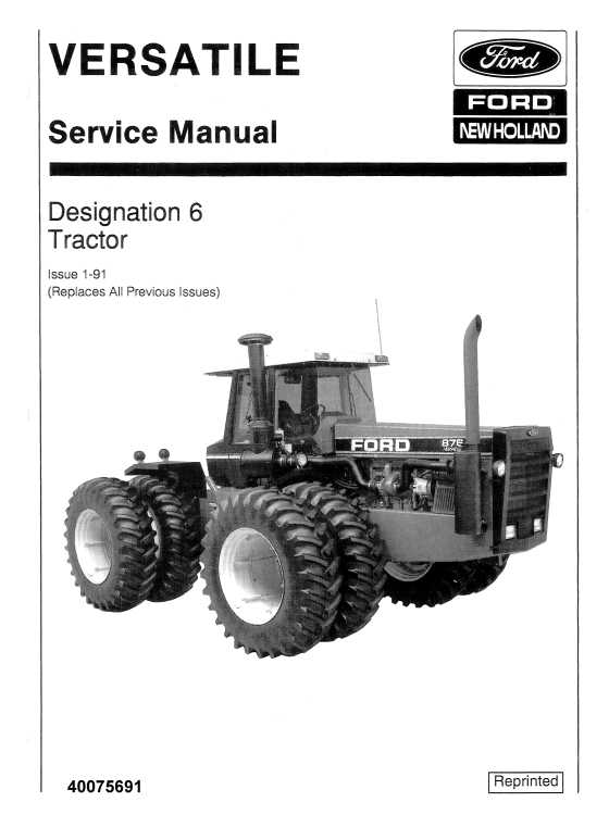 Ford Versatile 936 956 976 Tractor Service Manual Tractors