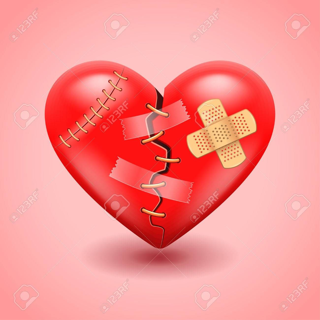 Big Broken Heart Photo Realistic Vector Background Ad Heart Broken Big Photo Background Broken Heart Photos Photo Heart Heart Background