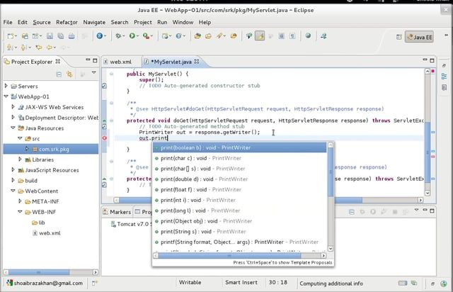 How to Creating a Web Application with Eclipse IDE | Places