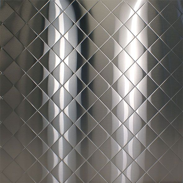 Stainless Steel Embossed Pattern Diamond Quilted Stainless Steel Sheet Wall Cladding Stainless Steel Backsplash