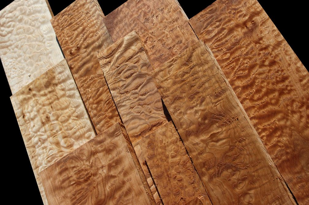 Exotic Wood Quilted Maple Oregon Big Leaf Maple Is